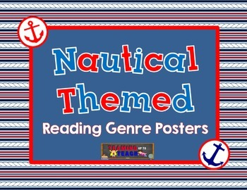 Anchor Nautical Themed Reading Genre Posters