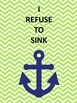 Anchor Nautical theme navy and lime quotes class decor