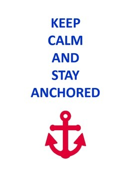 Anchor Nautical Theme Red White And Blue Quotes Class Decor Tpt