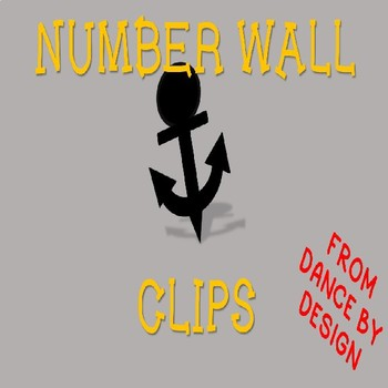 Anchor Number Wall Clips