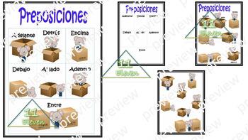 "Anchor Chart "" Preposiciones"" (Spanish)"