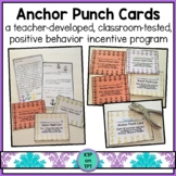 Anchor Punch Cards (Positive Behavior Incentive Program)