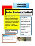 Anchor Standard of the Week AL ELA CCRS
