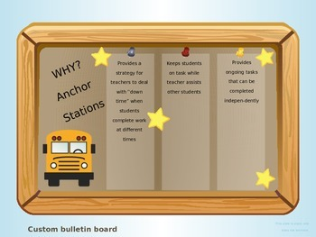 Anchor Stations and Learning Stations with game