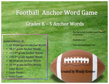 Anchor Word Football