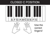 """Hand position in """"Closed C"""" anchor chart for playing the p"""