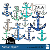 Anchor clipart Nautical clip art+Outline black and white clipart