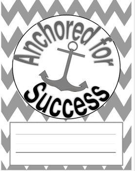 Anchor in Black and White for Binder Cover
