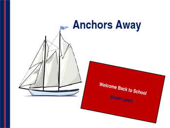Anchor or Nautical Theme Open House Powerpoint