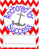 Anchor with Color Title Page/ Binder Cover Printable Freebie