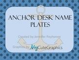 Anchor/Nautical Theme Desk Name Plates