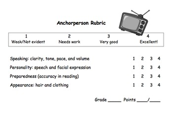 Anchorperson Rubric