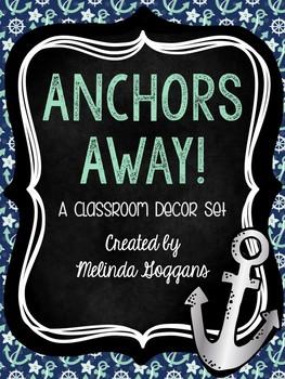 Anchors Classroom Theme: Editable with matching teacher binder