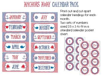 Anchors Away Calendar Set