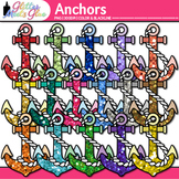 Glitter Anchor Clip Art {Great for Charts and Nautical Cla