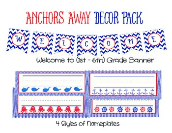 Anchors Away Decor Pack