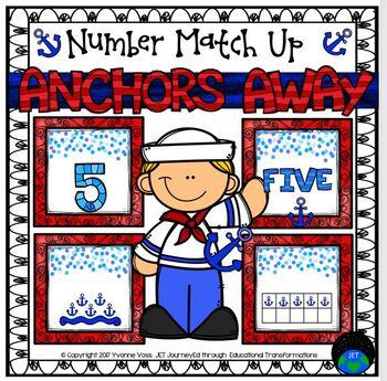 Anchors Away Number Match Up Math Center