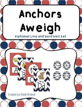Anchors Aweigh! Alphabet Line and Word Wall Header Set