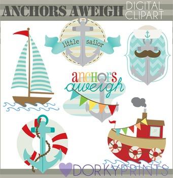 Anchors Aweigh Summer Clip Art