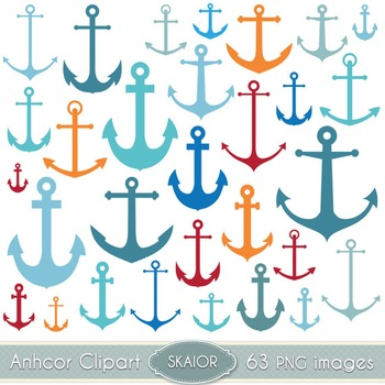 Anchors Clipart Digital Scrapbooking Vector Nautical Clip Art Silhouette