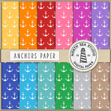 Anchors Digital Paper Pack | Anchors Paper | Printable Backgrounds