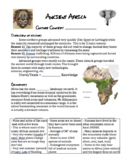 Ancient Africa Art/Culture Lesson Papers