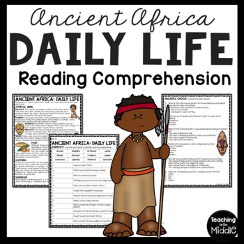 Ancient Africa Daily Life Reading Comprehension; Ancient Africa; Food; Clothing