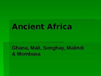 Ancient Africa Power Point