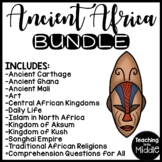 Ancient Africa Reading Comprehension Bundle, Ghana, Mali, Kush, Songhai, Aksum