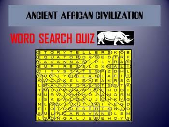 Ancient African Civilization