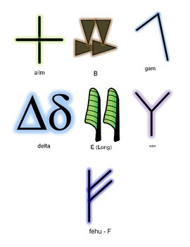 Ancient Alphabet Banner Bundle