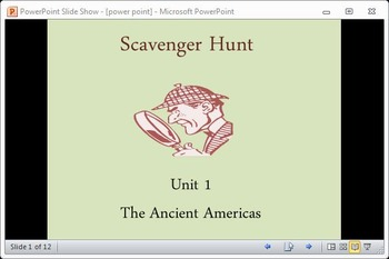 Ancient Americas Scavenger Hunt