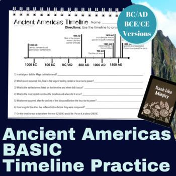 Ancient Americas Timeline Practice