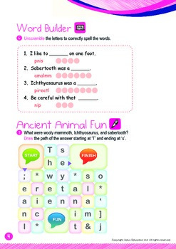 Ancient Animals - Ancient Animals (II): Word Family IN - K3 (age 5)