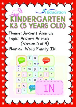Ancient Animals - Ancient Animals (II): Word Family IN - K