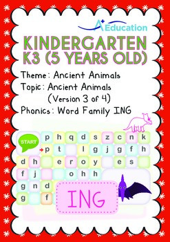Ancient Animals - Ancient Animals (III): Word Family ING - K3 (age 5)