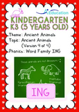 Ancient Animals - Ancient Animals (IV): Word Family ING - K3 (age 5)