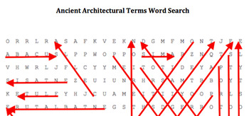 Ancient Architectural Terms Word Puzzle Packet