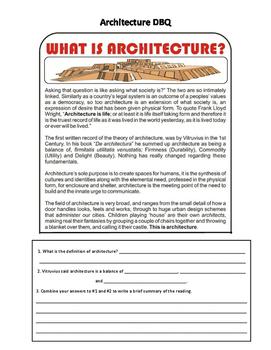 Ancient Architecture DBQ