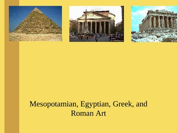 Ancient Art Lecture Powerpoint