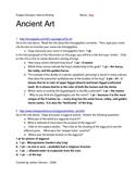 Ancient Art Web Activity