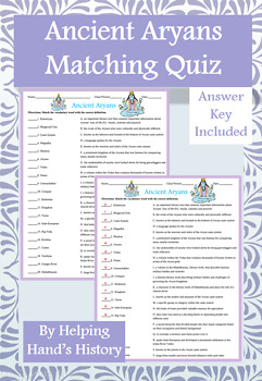 Aryan Activity Matching with Answer Key
