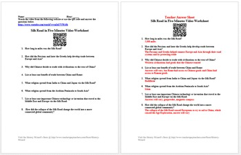 Ancient Asia Short Video Worksheet Collection
