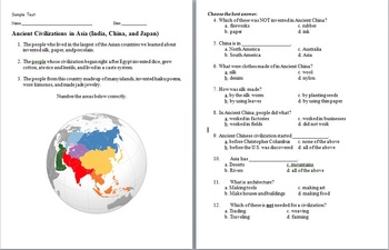 Ancient Asia assessment