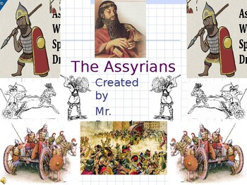 Ancient Assyrians PowerPoint, Scaffolded Notes, and Crossword Puzzle