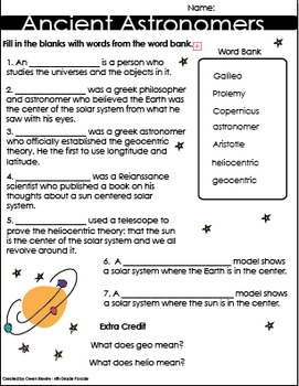 Ancient Astronomers Quiz