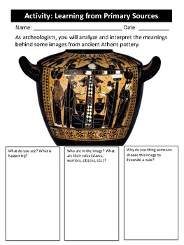 Ancient Athens - Learning from Primary Sources (classroom activity)