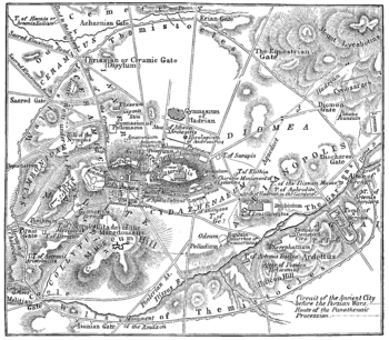 Ancient Athens Map