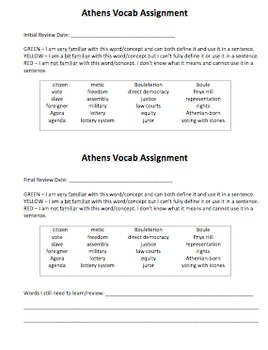 Ancient Athens Vocabulary