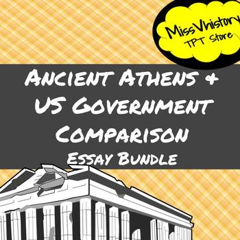 Ancient Athens and US Government Comparison Essay Bundle